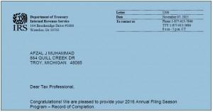 IRS AFSP Participant 2016